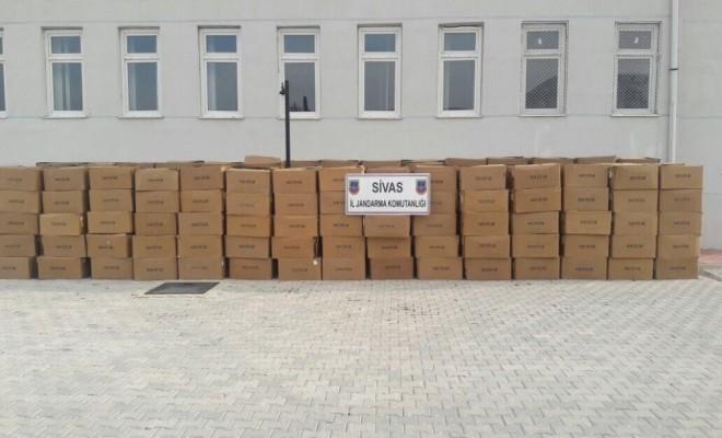 Sivasta 6.5 Ton Kaçak Tütün Ele Geçirildi
