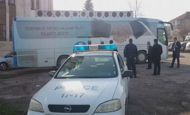 Bulgaristanda Türk Partisinin Seçim Otobüsüne Saldırı