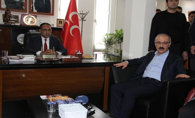 Bakan Elvan Mhp Mersin İl Başkanlığını Ziyaret Etti