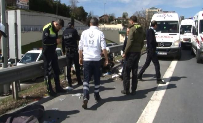 15 Temmuz Şehitler Köprüsünde Trafiği Kilitleyen Kaza