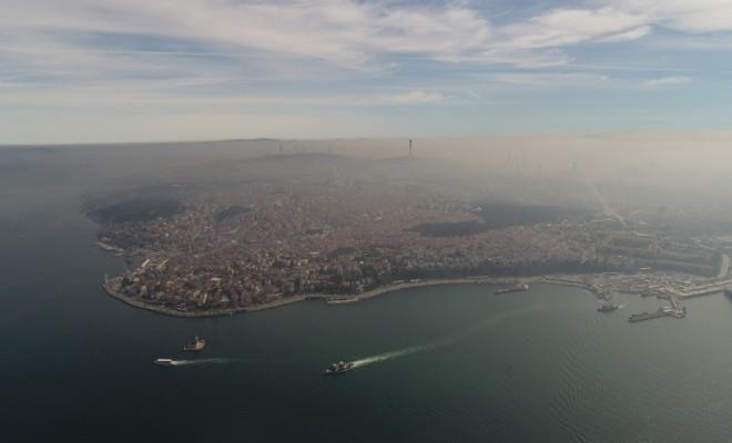 İstanbulu Kaplayan Yoğun Sis Havadan Görüntülendi