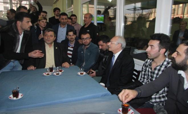 Kılıçdaroğlundan Kahvehane Ziyareti