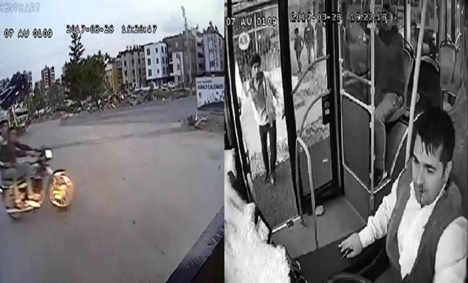 Magandalar Halk Otobüsüne Taşlı Saldırdı
