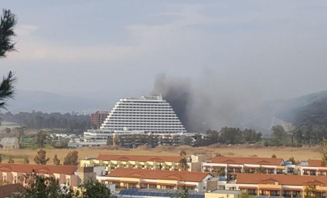 İzmirde 5 Yıldızlı Otelde Yangın