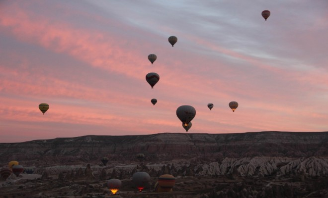 Kapadokyada Balon Yolculuğu Kamerada