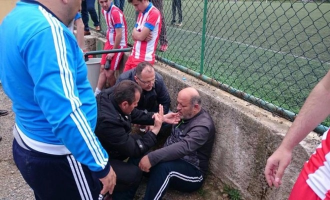 Amatör Maçta Olay: Antrenör Darp Edildi