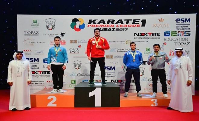 Karatecilerden Dubaide 9 Madalya