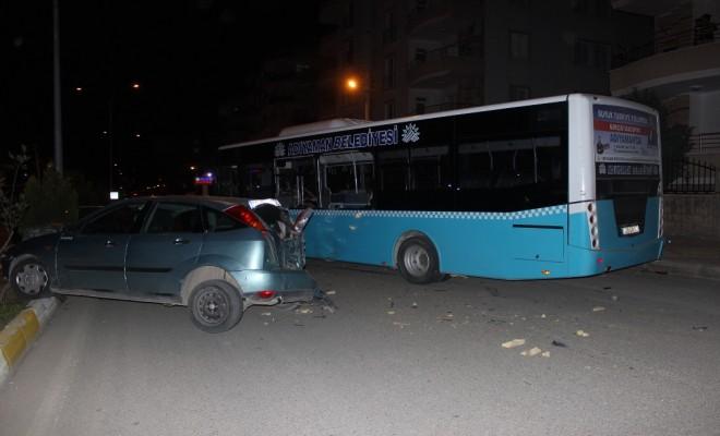 Adıyamanda Zincirleme Kaza: 3Ü Polis 4 Yaralı
