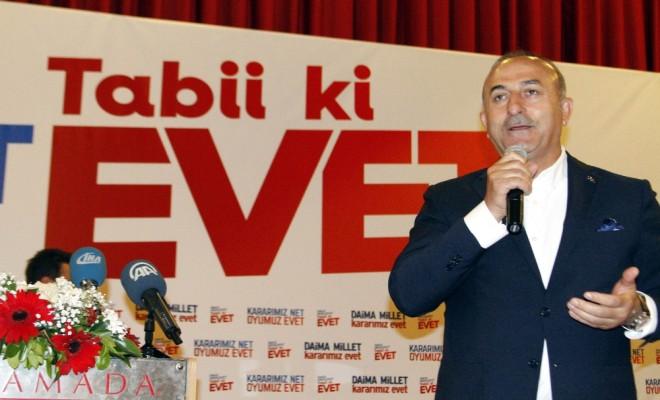 Bakan Çavuşoğlu Hayırcı Milliyetçilere Seslendi