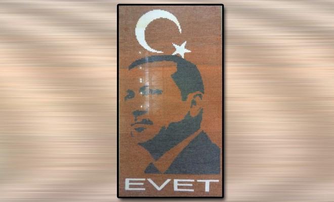 50 Bin Bardakla Erdoğan Silüeti Yaptılar