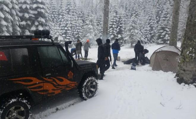 Kamp İçin Gittikleri Yaylada Mahsur Kaldılar
