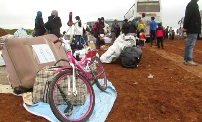 Al Waerden Tahliye Edilen Suriyeliler Cerablusa İlerliyor