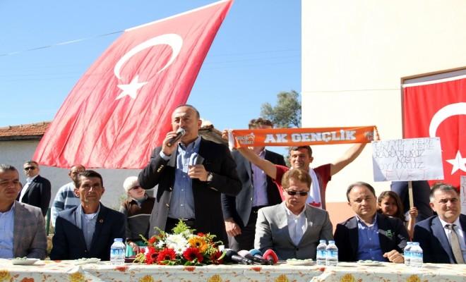 Bakan Çavuşoğlundan Rabia Ve Bozkurt İşareti