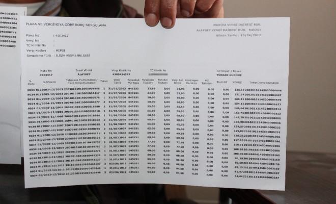 Çalınan Minibüse 14 Yıl Sonra Vergi Borcu