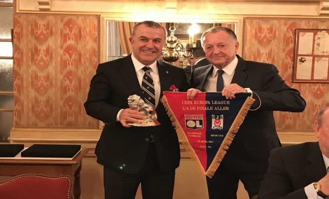 Lyondan Beşiktaşa Dostluk Yemeği
