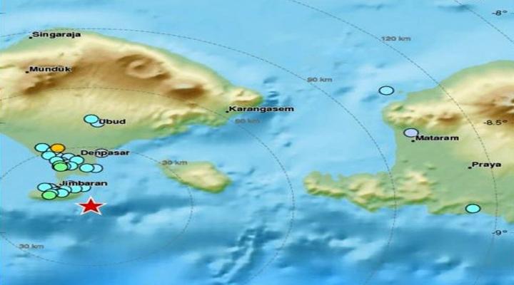 Endonezyada 6.4 Büyüklüğünde Deprem