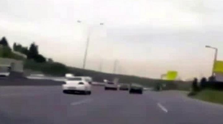 Trafik Magandasının Ölümle Oyunu Kamerada