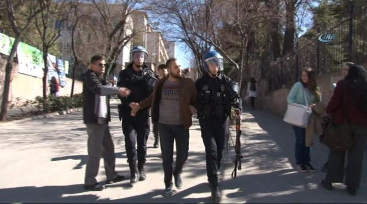 Ankara Üniversitesinde Gerginlik: 2 Gözaltı