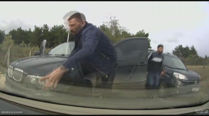 Silahla Yol Kesip, 2 Kişiyi Kaçıran Fidyeciler Kamerada