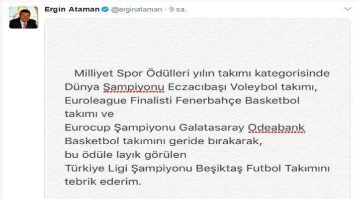 Ergin Atamandan Ödül Eleştirisi