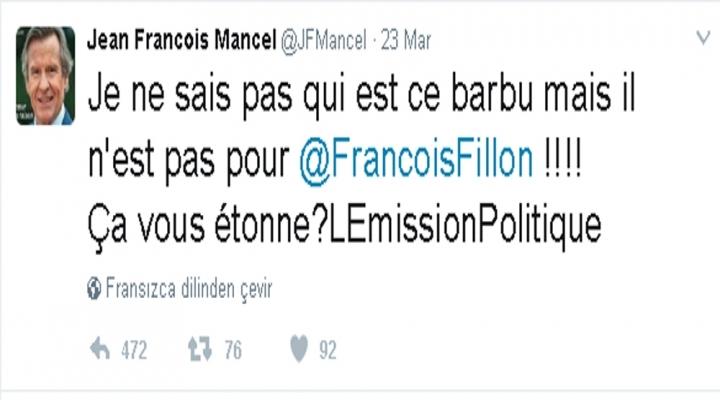 Fransız Milletvekilinden Arap Gazeteciye Sakallı İma