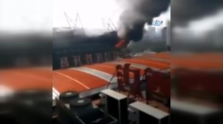 Shanghai Shenhuanın Stadında Yangın Çıktı