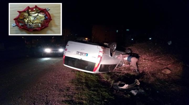 Takla Atan Minibüsten Kese Dolusu Altın Çıktı