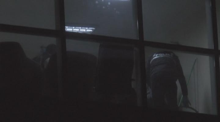 İş Merkezinde El Bombası Ve Silah Ele Geçirildi