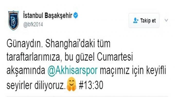 Medipol Başakşehirden 13.30 Tepkisi