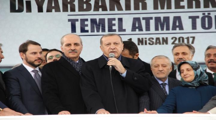 Erdoğan, Merkez Caminin Temel Atma Törenine Katıldı