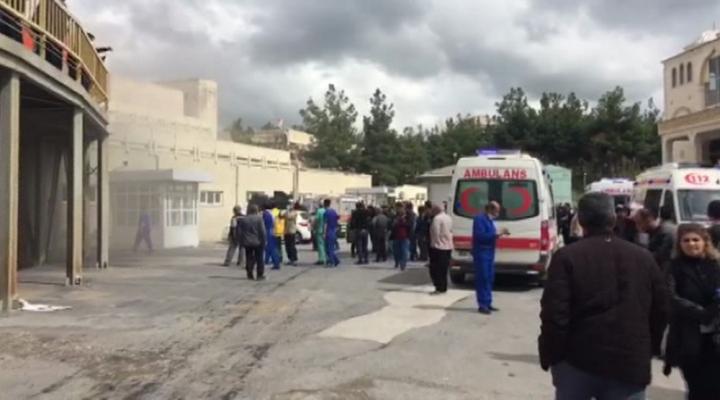 Dicle Üniveristesi Hastanesinde Yangın