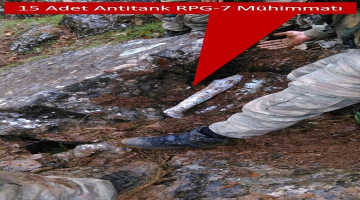 "Tsk: 15 Adet Rpg-7 Anti-Tank Mühimmatı Ele Geçirildi"""