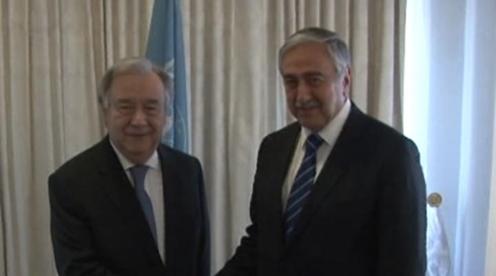 Akıncı Bm Genel Sekreteri Guterres İle Bir Araya Geldi