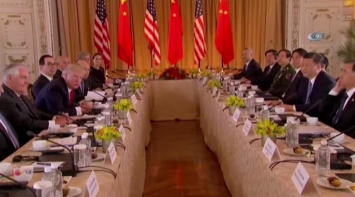 Trump Ve Çin Devlet Başkanı Jinping İle Bir Araya Geldi