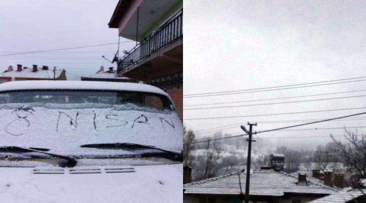 Bursalılara Nisanda Kar Sürprizi