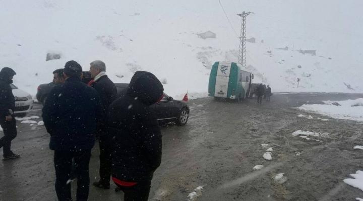 Ovit Geçidi Kar Nedeniyle Ulaşıma Kapandı
