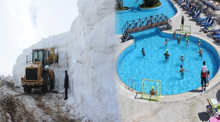 Doğuda Kar Egede Deniz Keyfi