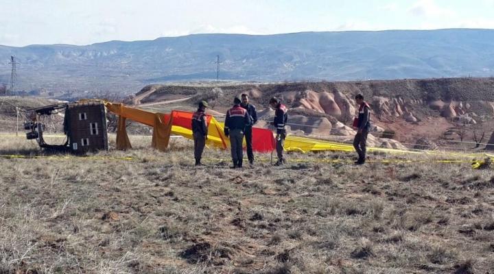 Düşen Balonun Pilotu Serbest Bırakıldı