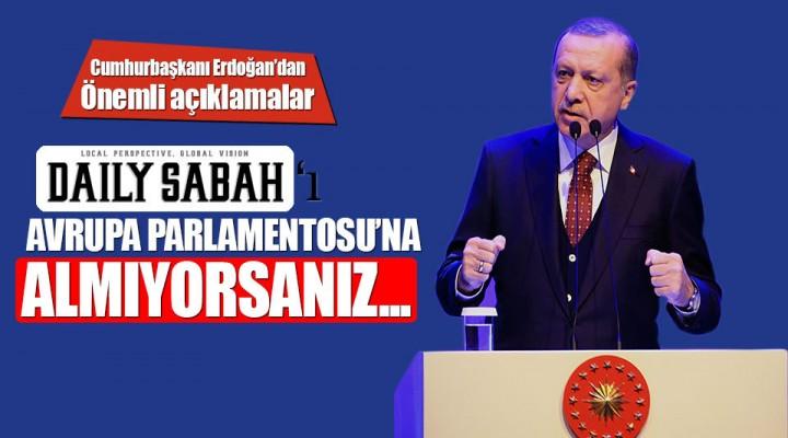 Cumhurbaşkanı Recep Tayyip Erdoğan İlim Yayma Vakfı'nın programında konuştu.