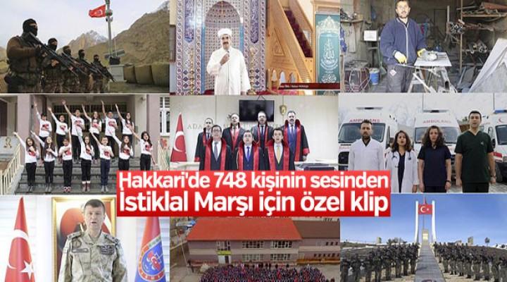 Hakkari'de İstiklal Marşı için özel klip