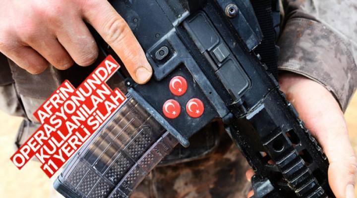 Afrin destanı yerli silahlarla yazılıyor