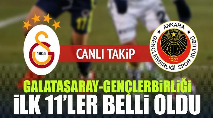 Spor Toto Süper Lig'in 24. Haftasında Galatasaray Gençlerbirliği Canlı
