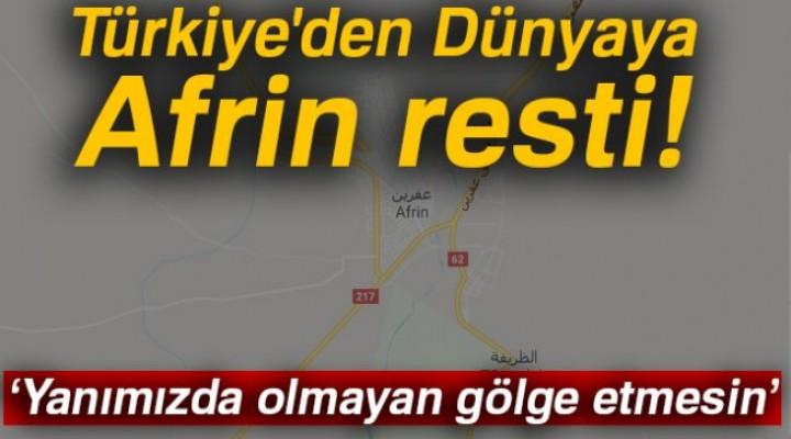 Afrin harekatında (Zeytin Dalı) 153 hedef ateş altına alındı detaylar haberin içinde