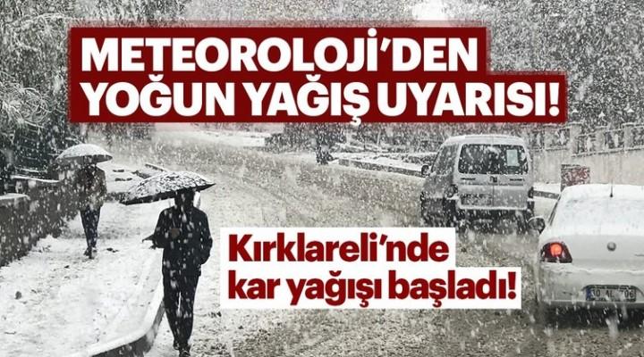 Meteoroloji'den son dakika hava durumu! Kar yağışı başladı! İstanbul'da kar yağacak mı ?