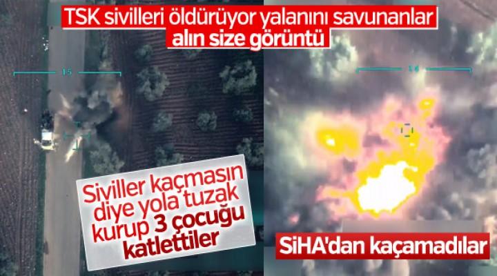 Afrin'de teröristlerin bombalı tuzağı sivilleri öldürdü