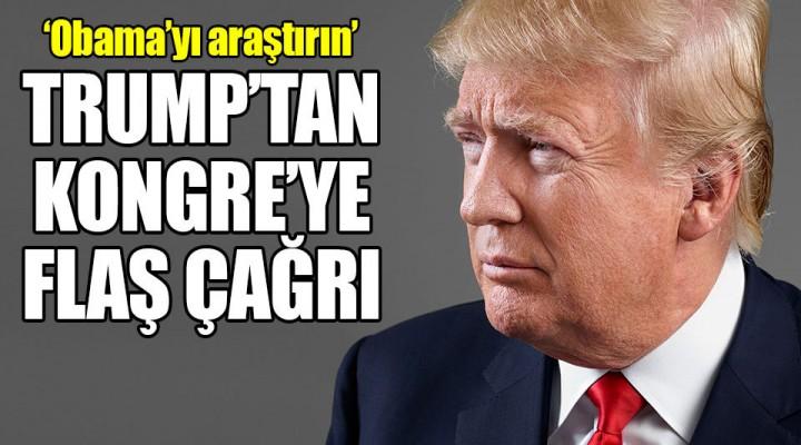 Donal Trump'dan ABD Kongresine Çağrı