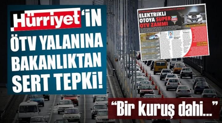 Son dakika: Maliye Bakanlığı'ndan ÖTV zammı açıklaması
