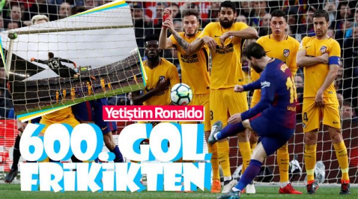 Ronaldo'dan sonra Messi de 600 gole ulaştı