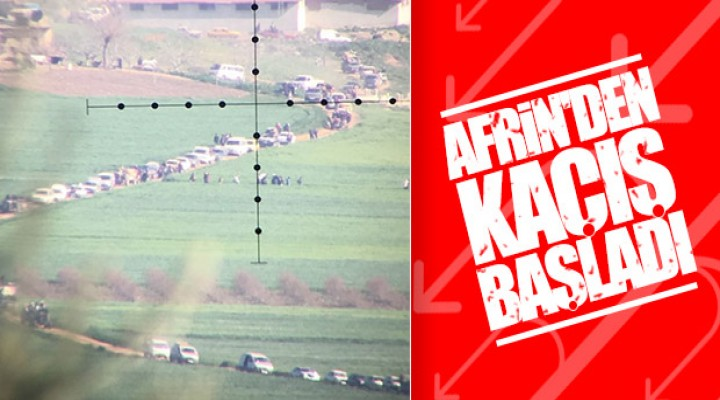 Afrin'den kaçışlar hızlandı