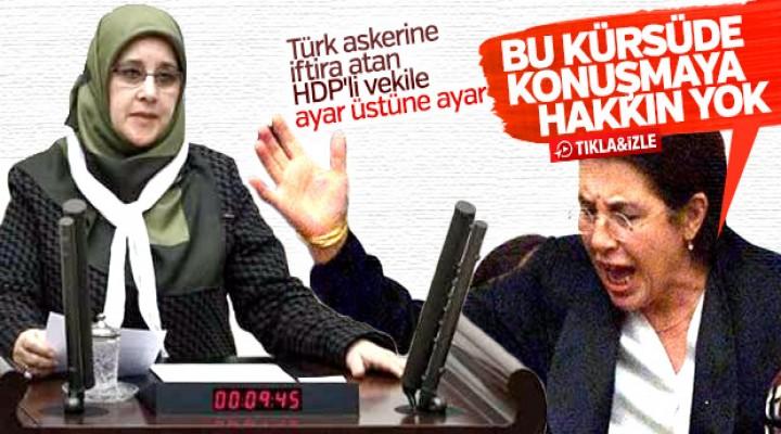 Meclis Başkanvekilinden HDP'li vekile ayar